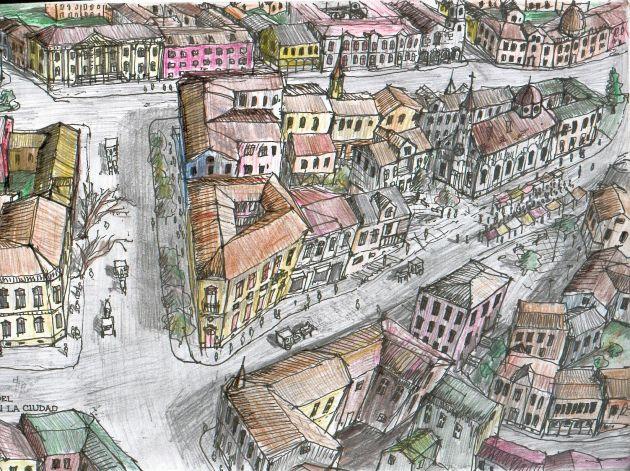 Densidad del siglo XIX en una ciudad